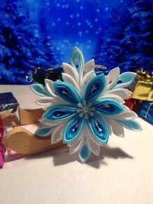 Dekorácie - Snehová vločka - tyrkysová - 5977655_