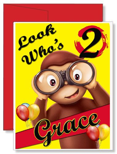 Super Personalized Birthday Greeting Card Curious George Personalised Birthday Cards Veneteletsinfo