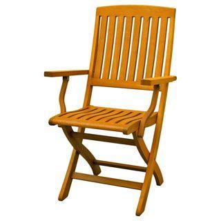 Awe Inspiring International Caravan Royal Tahiti Yellow Balau Wood Folding Evergreenethics Interior Chair Design Evergreenethicsorg