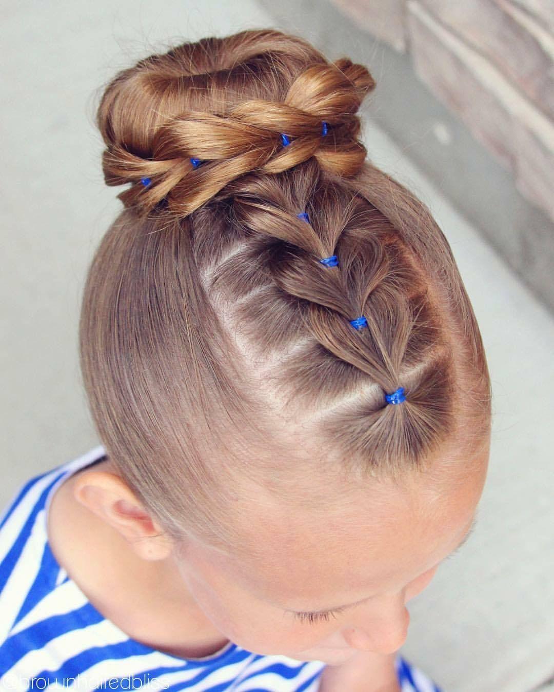 Girls Hairstyle Breads Hair Hair Styles Little Girl Hairstyles Girl Hair Dos