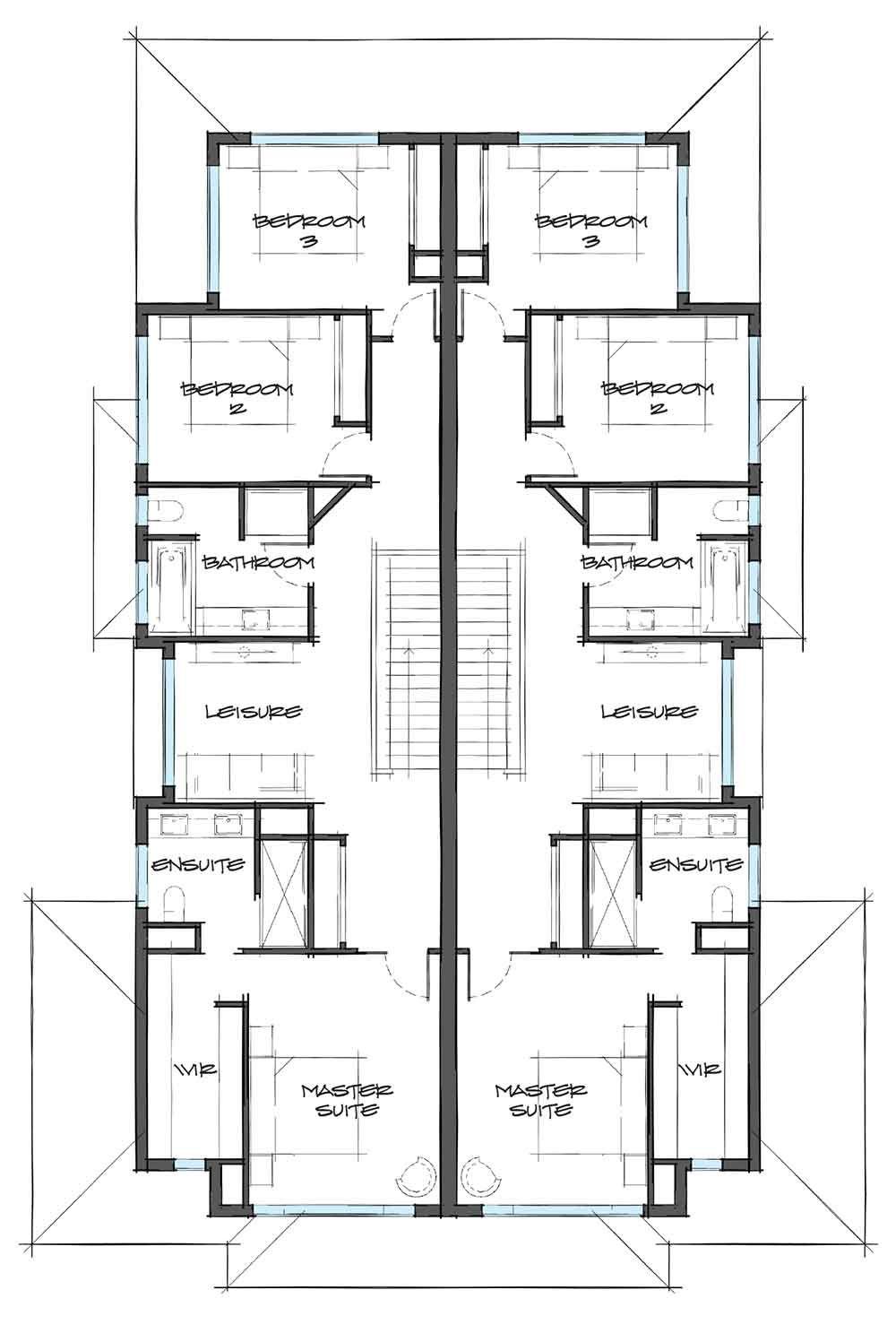 Dual Occupancy Carter Grange Homes Melbourne Duplex Floor
