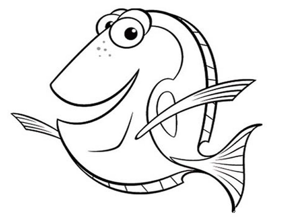 Fish Color Pages To Print Nemo Coloring Pages Finding Nemo Coloring Pages Fish Coloring Page