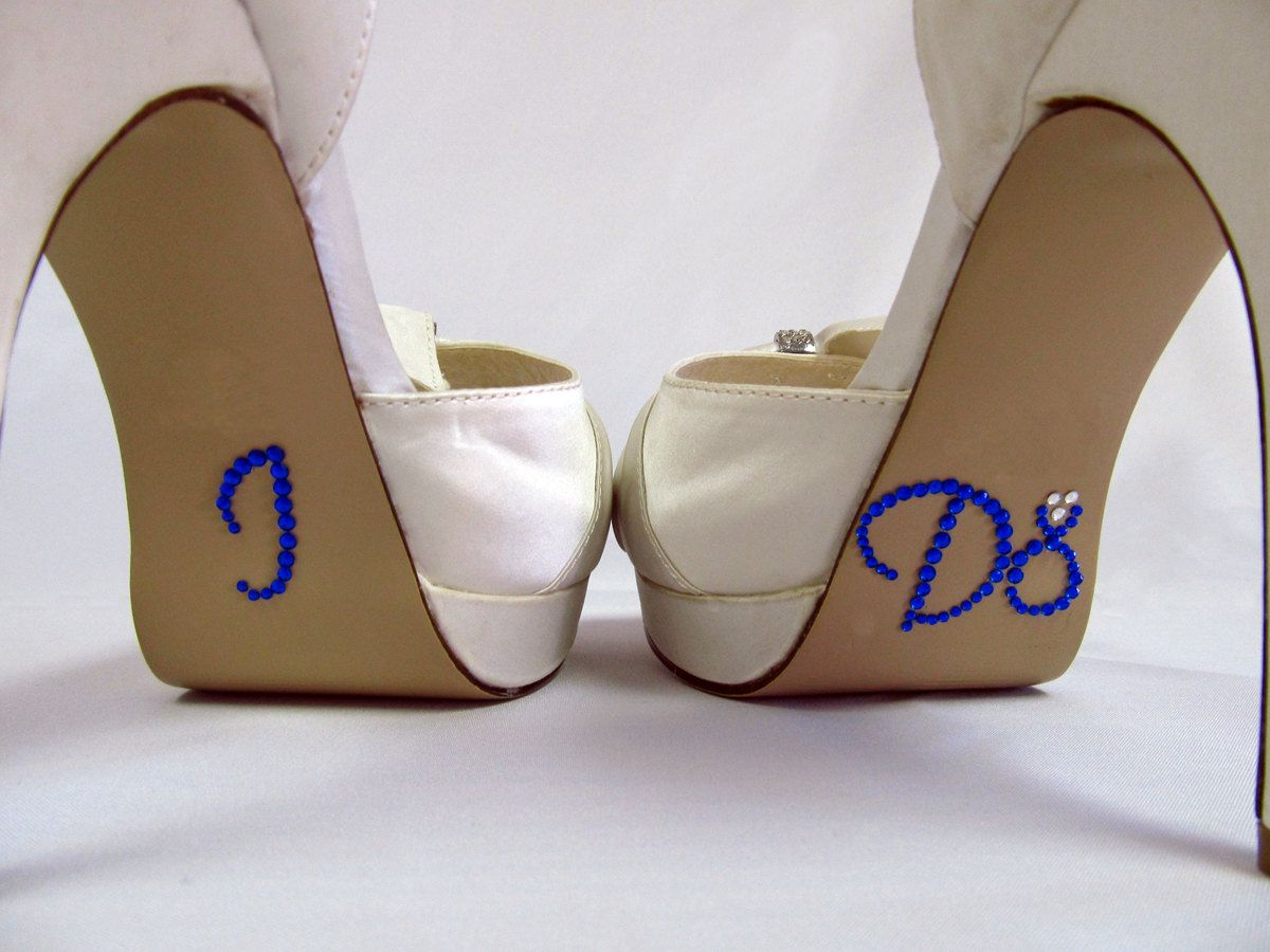 67f77c11c00030 Royal Blue Bling I Do Shoe Stickers - Rhinestone I Do Shoe Decals for your Bridal  Shoes.  7.99