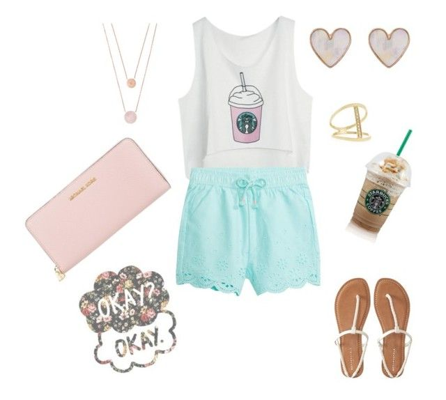 """""""Starbucks"""" by ferponm on Polyvore featuring Aéropostale, New Look, Michael Kors and Sydney Evan"""