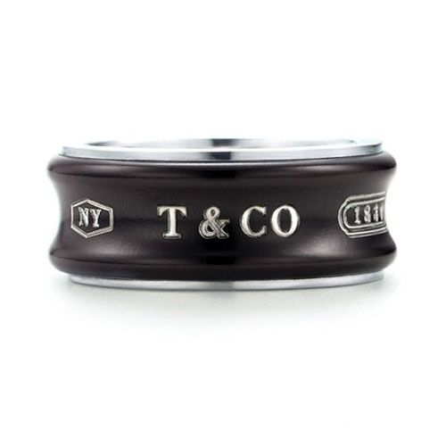65c6c8d04 Tiffany 1837 Black Ring $66.00 | Tiffany & Co.Rings | Tiffany rings ...