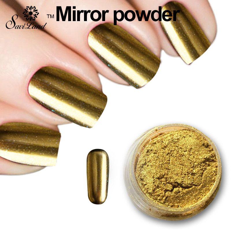 Espejo mágico Polvo Metálico Oro Plata Plata Pigmento Brillo de Uñas ...