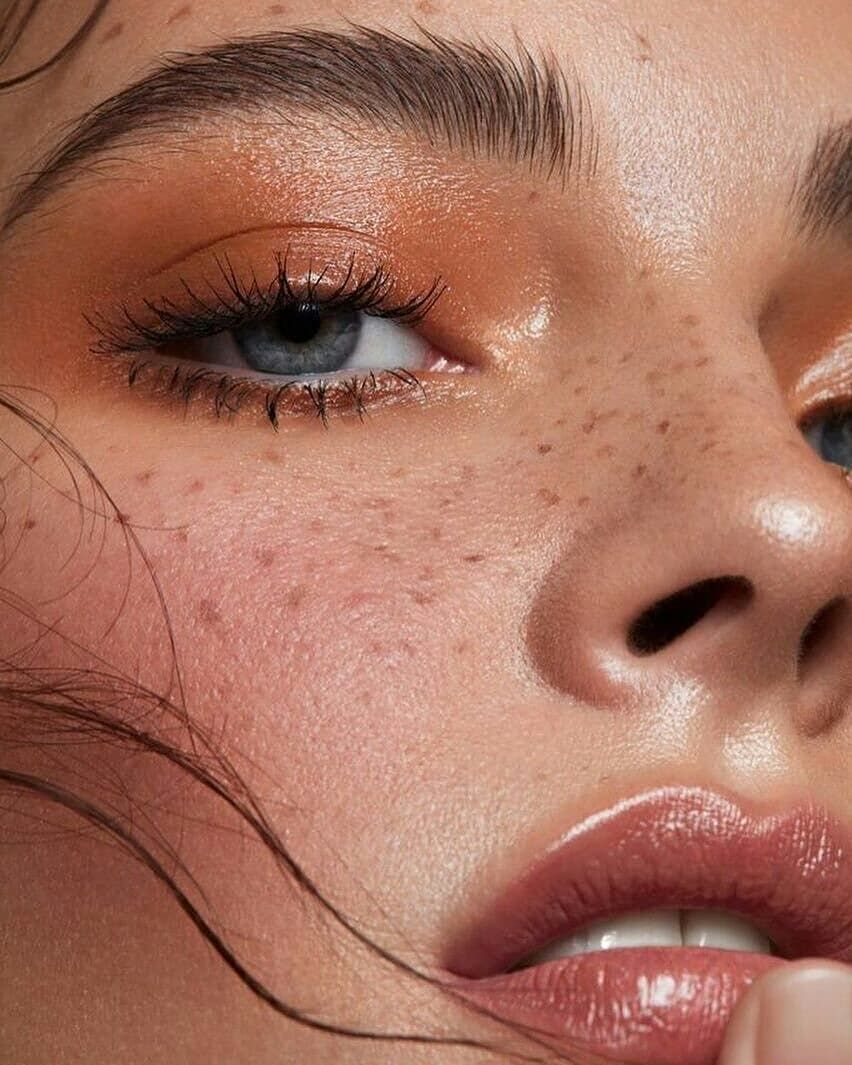 Neutral Glossy Eye Look With A Natural Pink Lip Makeup Inspo