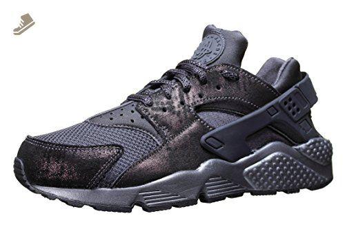 7f6ae38189f14 Nike Women's Huarache Run Premium Black 683818-004 (SIZE: 5.5 ...