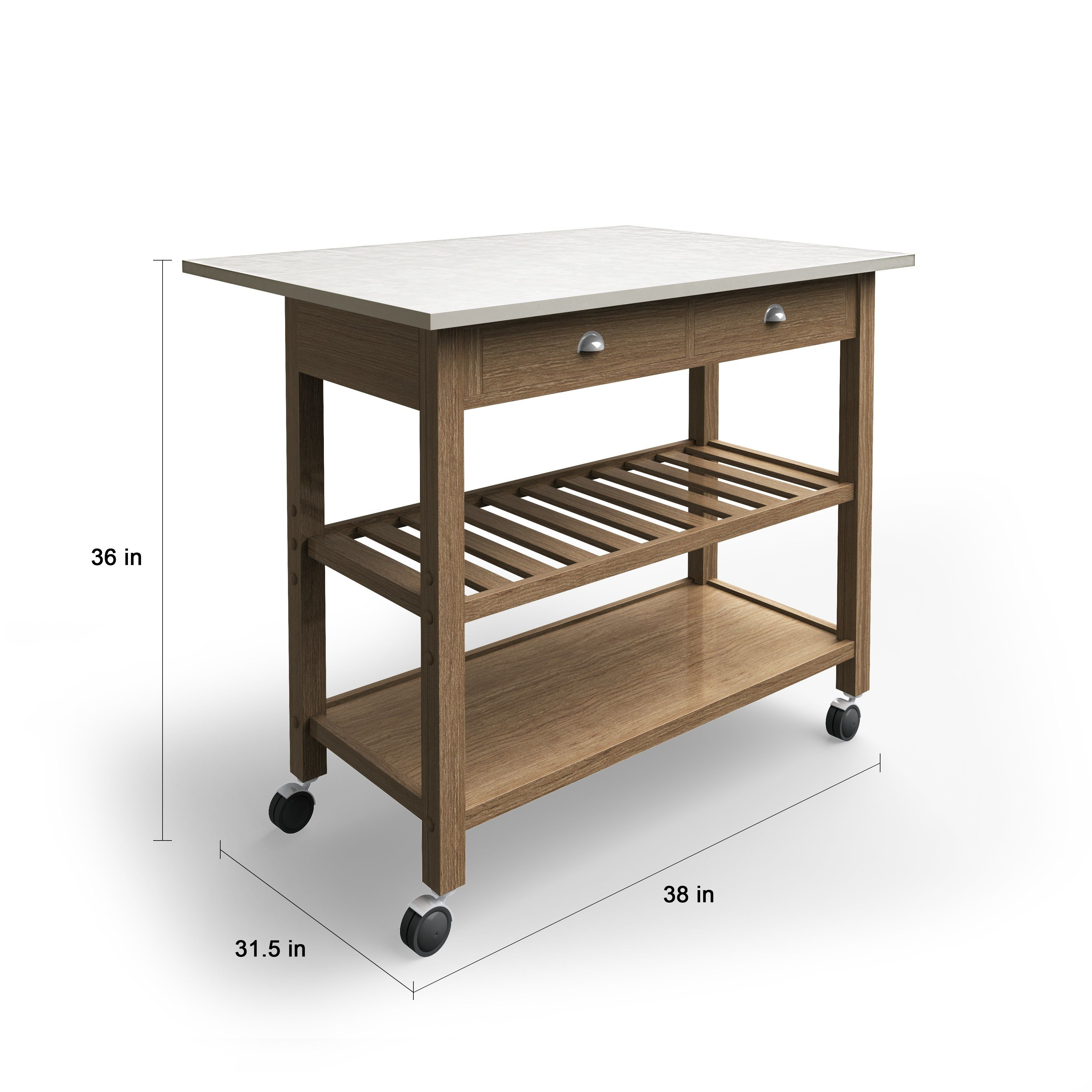 The Gray Barn Firebranch Wood and Stainless Steel Drop Leaf ...