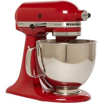 kitchenaid artisan stand mixer empire red 350 stuff to buy rh pinterest ca