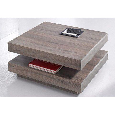 table basse carr e pivotante double platea d cor ch ne fonc vue 2 table basse. Black Bedroom Furniture Sets. Home Design Ideas