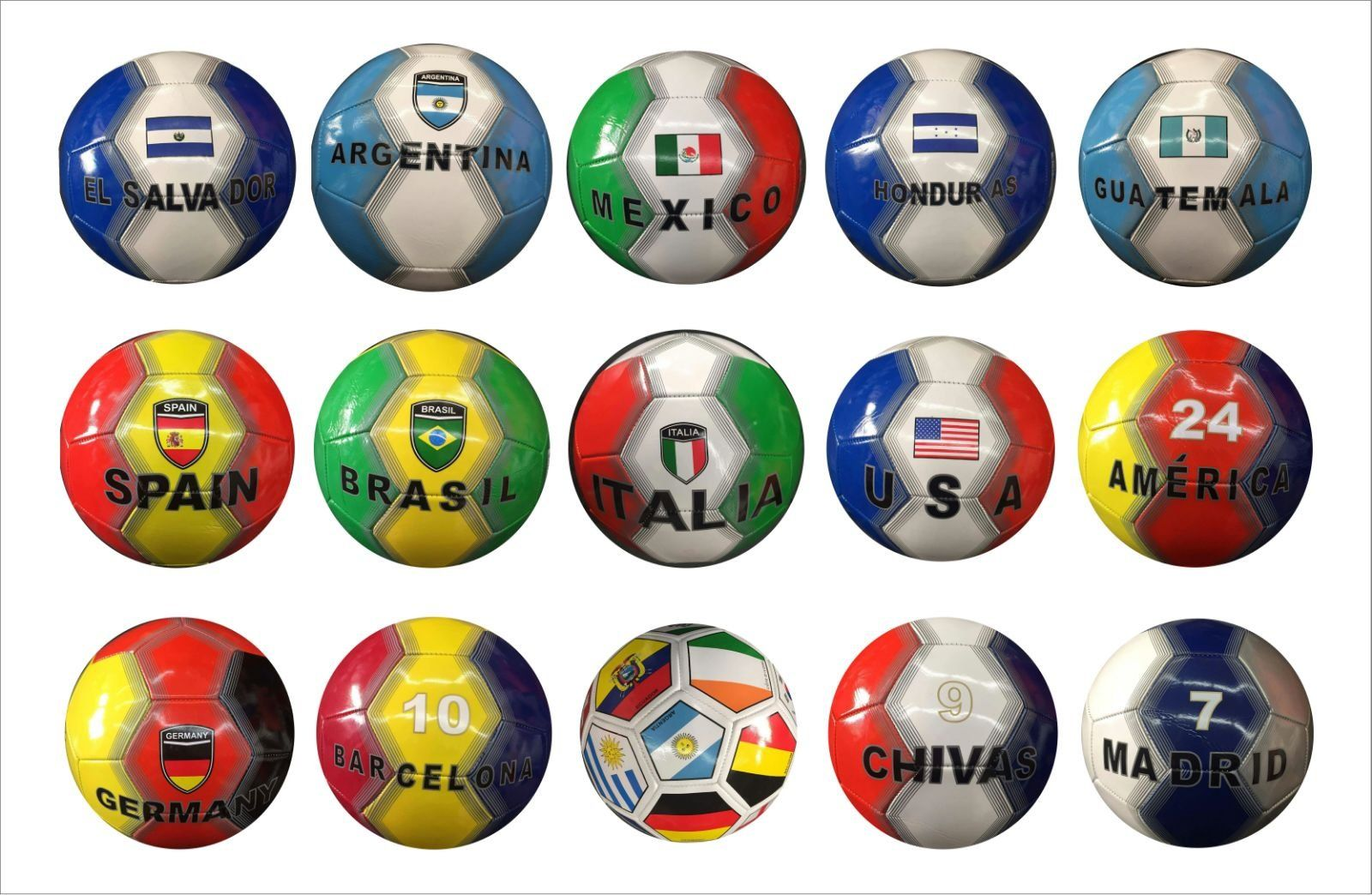 f96dd72db International Country Flag's and Club Soccer Ball Football Size-5 Panel 32  (USA)
