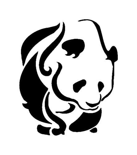 6 5 Quot Tribal Panda Jungle Vinyl Decal Sticker Wall Home