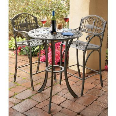 Outstanding Cast Iron Whitetail Outdoor Pub Table At Cabelas Patio Ocoug Best Dining Table And Chair Ideas Images Ocougorg