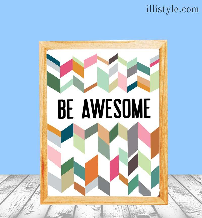 Be Awesome Free Printable {Hello Summer} I Heart Nap Time | I Heart Nap Time - Easy recipes, DIY crafts, Homemaking