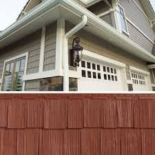Pacific Redwood Smart Styles Weathered Siding Looks Like Real Cedar Shakes But No Maintenance House Exterior Exterior House Colors Vinyl Shingle Siding