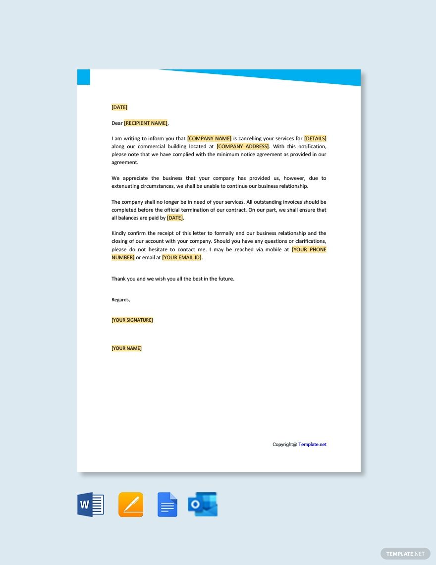 Ending A Business Relationship Letter Template Free Pdf Google Docs Word Template Net Letter Templates Free Letter Templates Lettering