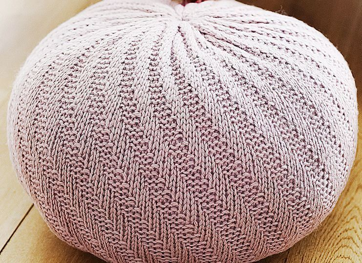 Free Knitting Pattern for Spiral Floor Pouf - Quick knit in super ...