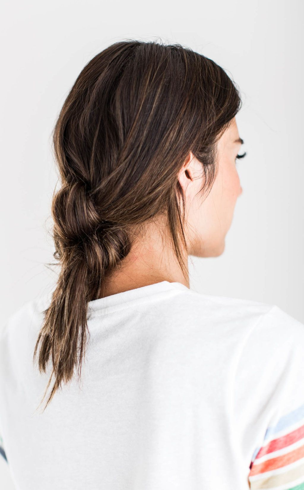 Messy knotted pony girls pinterest fast easy hairstyles easy