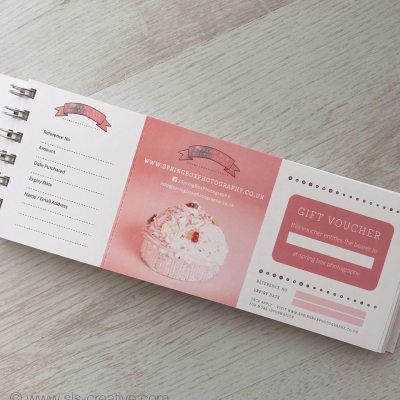 Gift voucher books with tear off voucher and recording stub Custom - copy custom gift certificates with stub