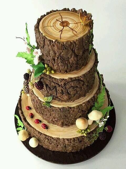 woods themed wedding cakes log cake woodland forest friends log 27617