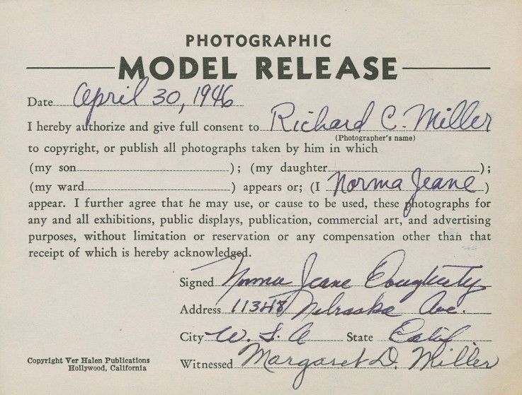 model release form monroe Google Search – Photography Model Release Form