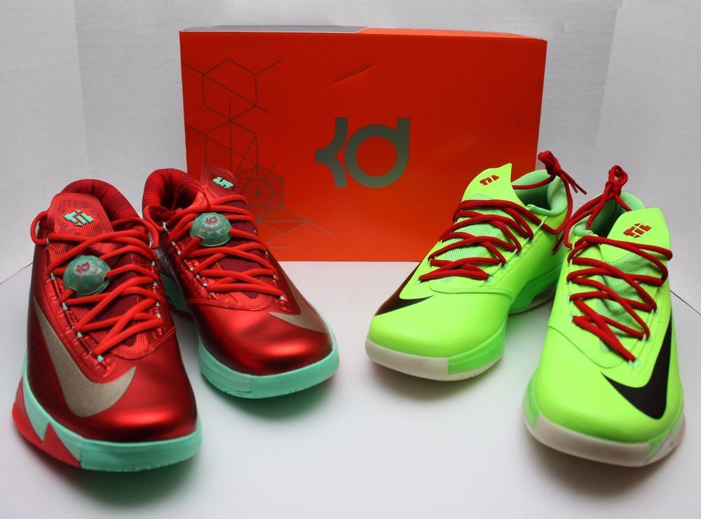 best service ea329 83632 Nike KD VI 6 Christmas   Grinch Size 10.5 -Holiday-Durant-N7-EXT Gum-  599424 601  Nike  BasketballShoes