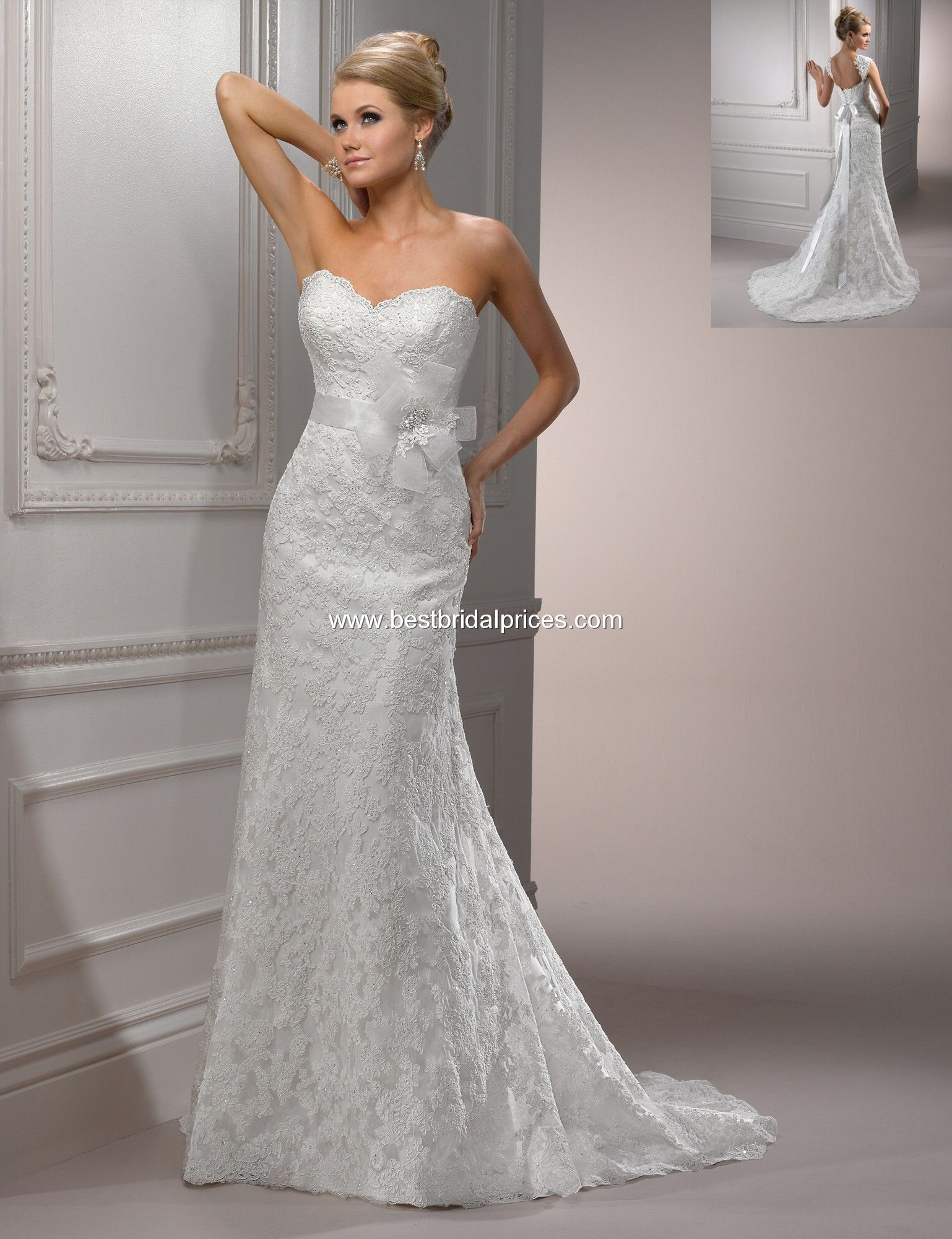 Kellyus wedding dress with out the flower bow wedding