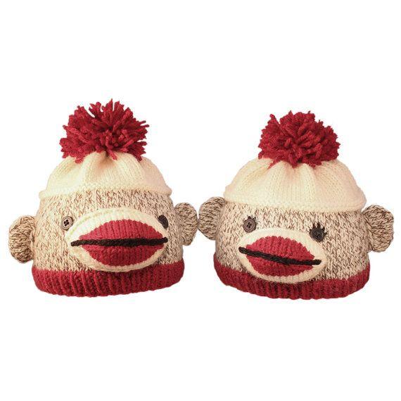 75bfbb2eee1 Ravelry  Sock Monkey Hat (newborn to child sizes) pattern by Donna Sires