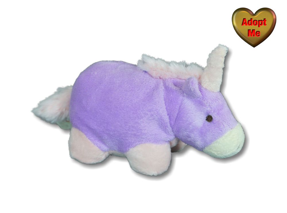 Commonwealth Pillow Pets 6in Purple Pink Unicorn Beanie
