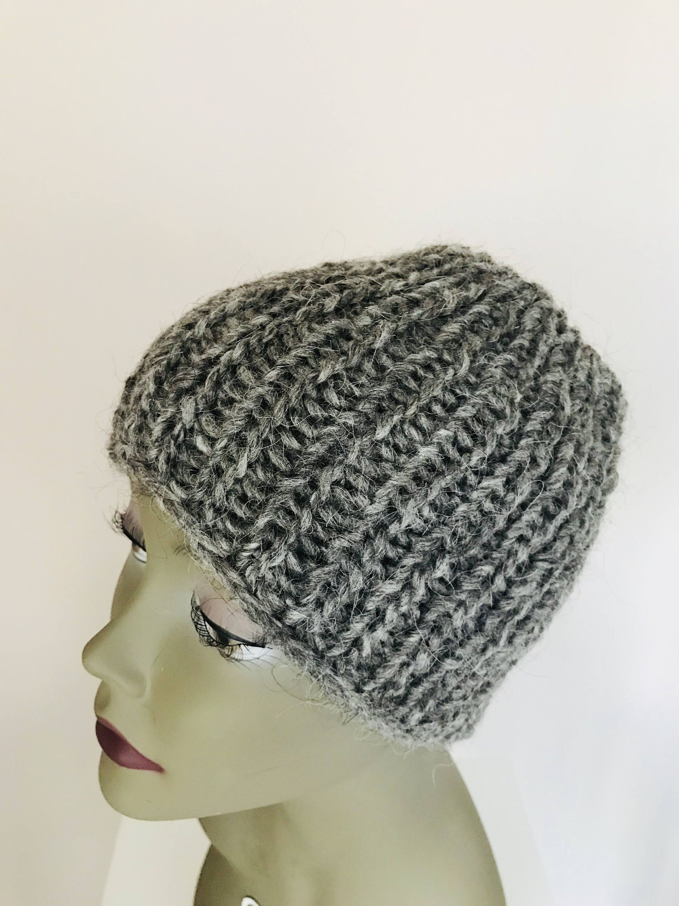 Excited to share this item from my  etsy shop  Messy Bun Hat - Ponytail Hat  - Hand Knit Headband - Grey Ponytail Hat - Wool Head Warmer - Ponytail  Beanie ... bfc251d1cbc