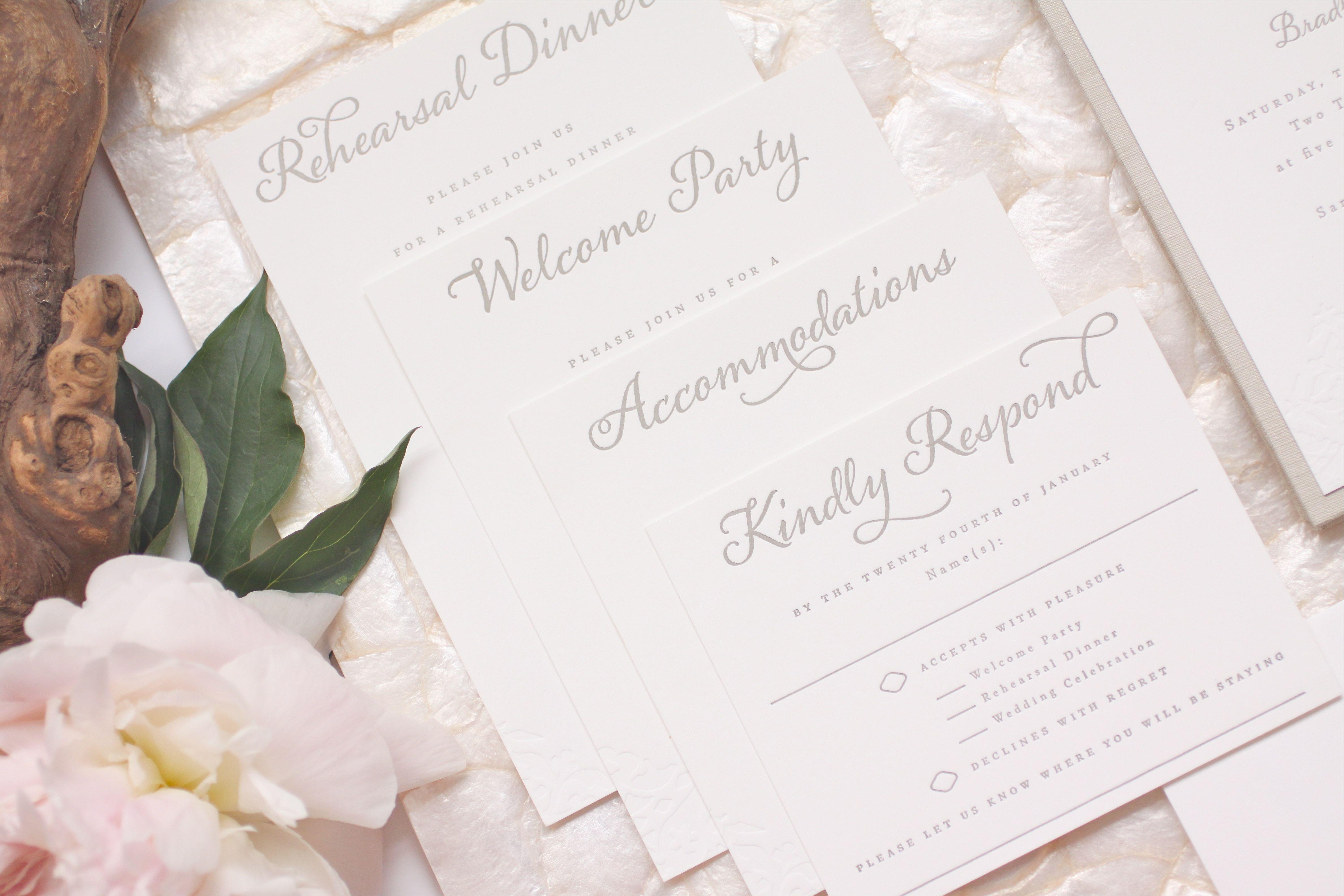 Shannon Bradley S Letterpress Wedding Invitations Custom Linen