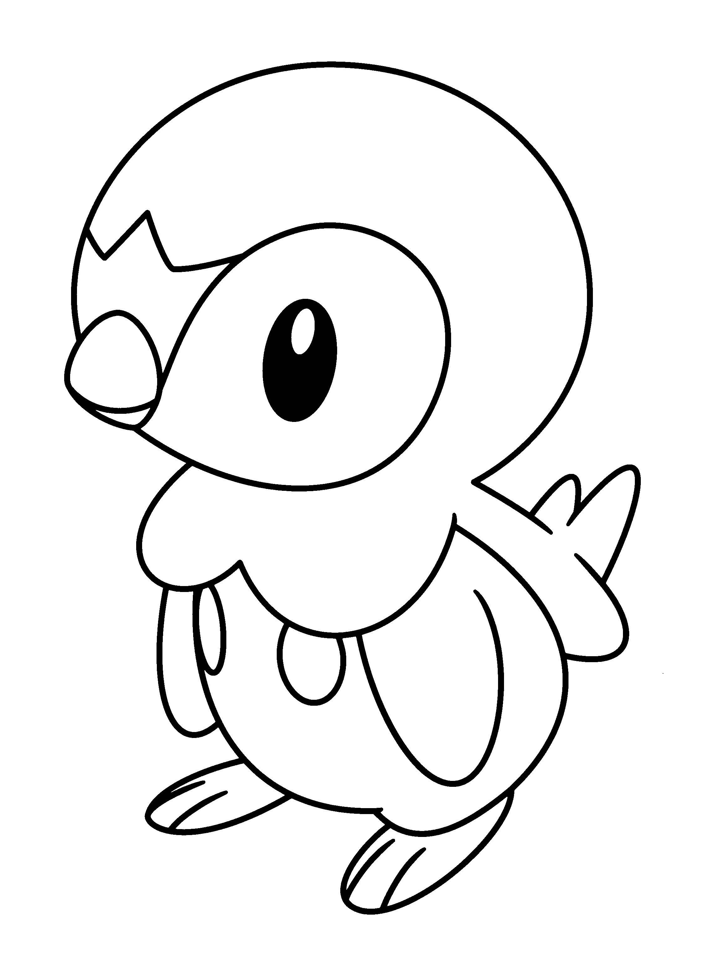 Pokemon Piplup Coloring Pages Free