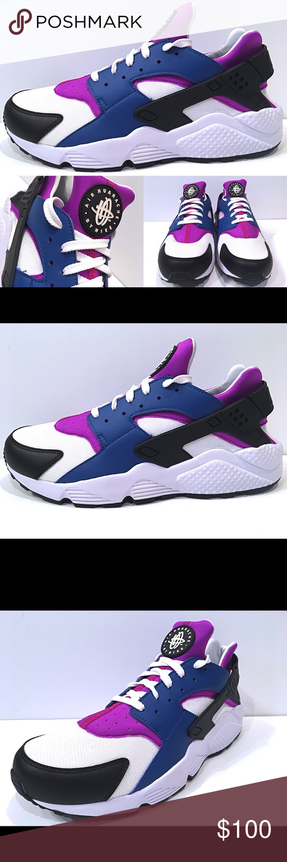 ec8cbee5e356 Nike Air Huarache Blue Jay White Hyper Violet Sz13 Nike Air Huarache Blue  Jay White Hyper Violet Men s Running Size 13 318429 415 New with Original  Box Nike ...