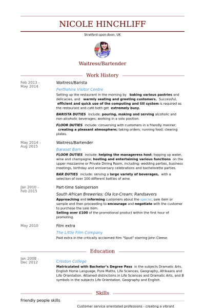 Resume Examples Me Nbspthis Website Is For Sale Nbspresume Examples Resources And Information Resume Examples Barista Good Resume Examples