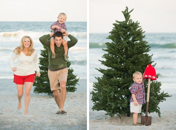 Family Holiday Portrait Photos In Jacksonville Beach Fl Beach Christmas Pictures Christmas Beach Photos Christmas Photoshoot