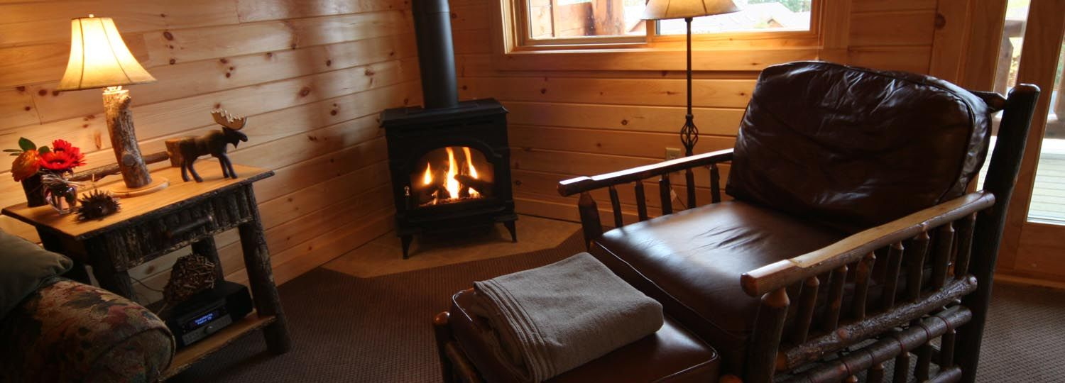 Interior views of the Adirondack Lodges on Lake George at the Cresthaven Resort