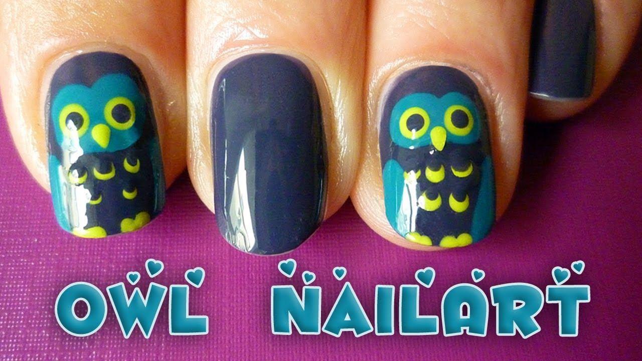 easy owl nail art tutorial for fall/autumn or halloween | Nails ...