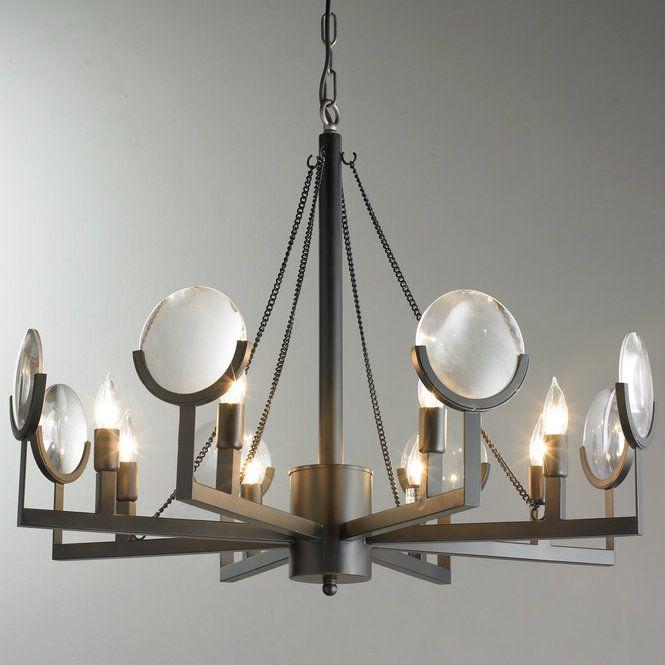 Magnify Glass Chandelier Black Glass Chandelier Brass Pendant Light