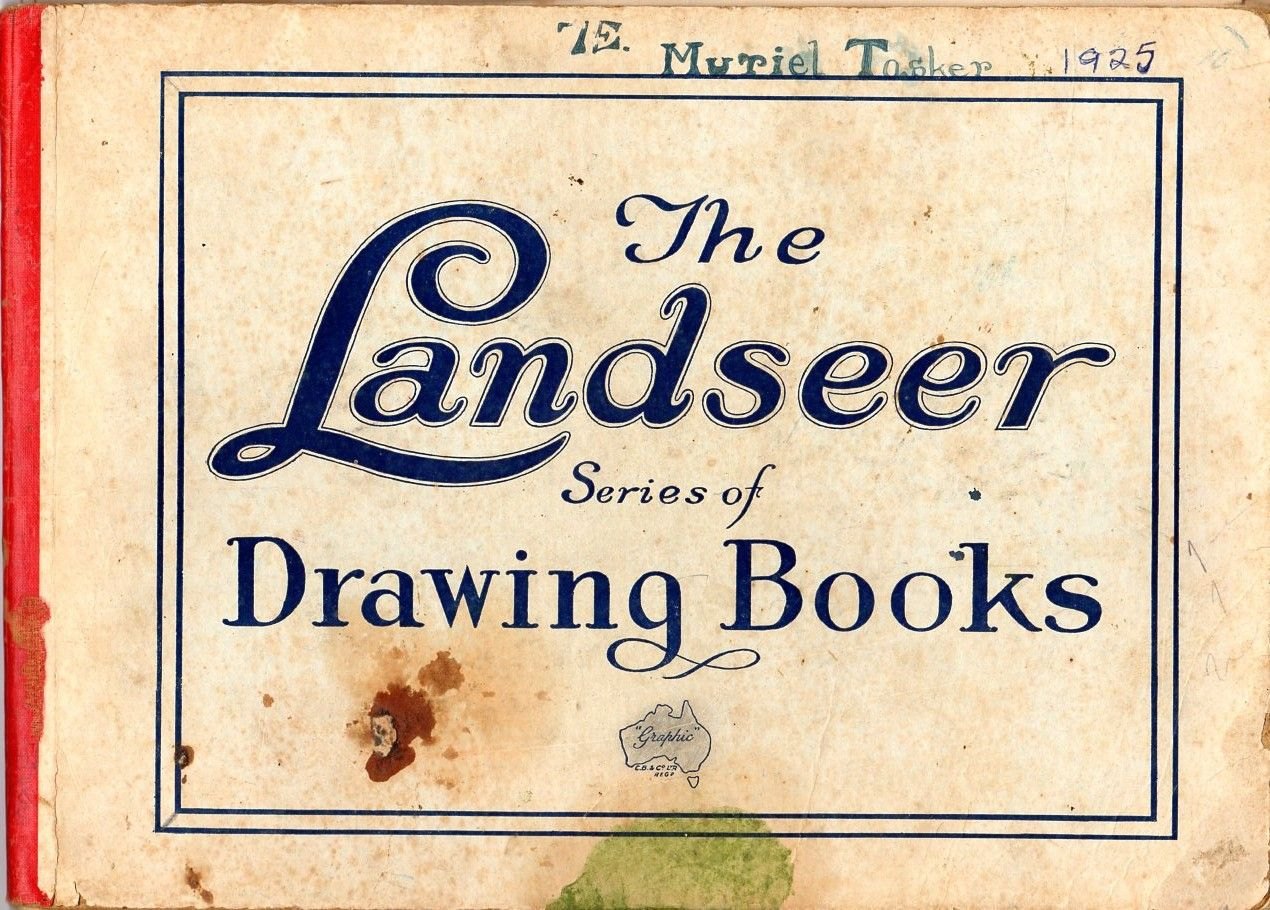 Drawing book from Burwood Domestic Science School, NSW 1925