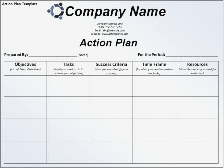 image result for simple work plan template project management