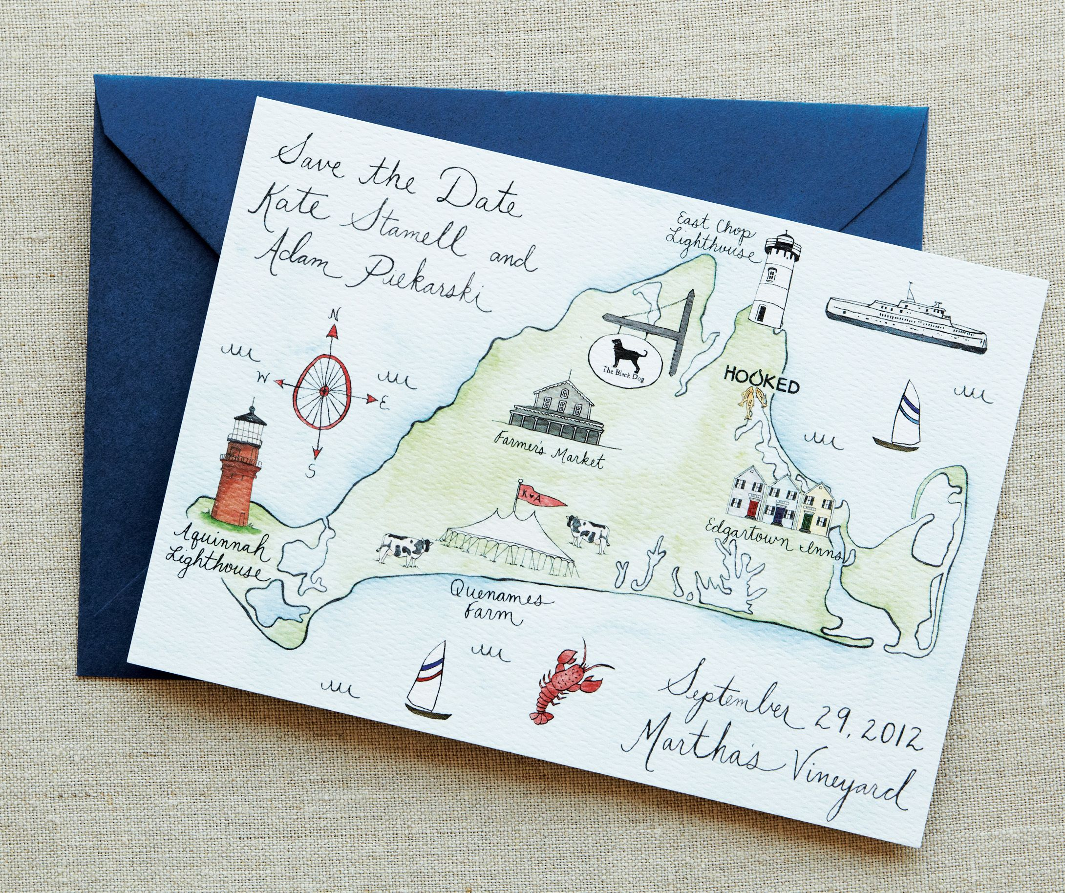 Loving this save the date would like to do a hand drawn Orcas