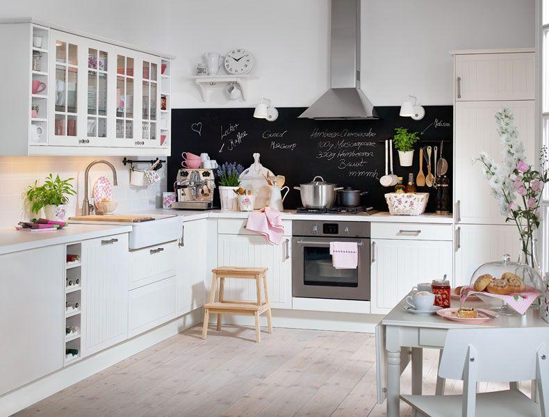 FAKTUM Einbauküche Mit STÅT Front in Elfenbeinweiß - küche ikea landhaus