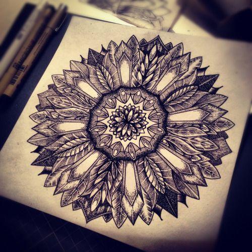 Http://leshacaez.tumblr.com/ Instagram: Leshacaez · Sunflower Mandala TattooGeometric  ...