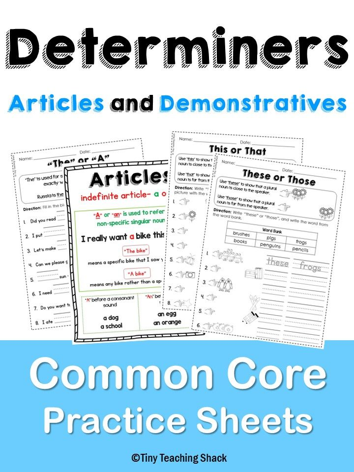 First Grade Common Core Language Practice Sheets