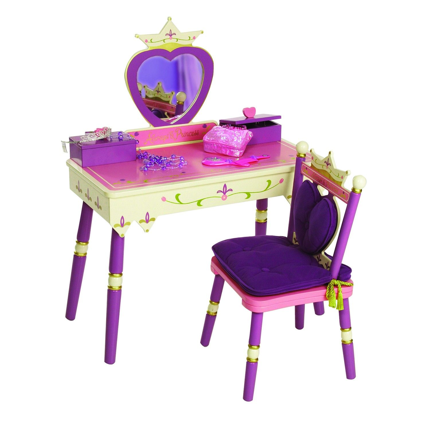 Levels Of Discovery Princess Vanity Table Chair Set Bunk Beds