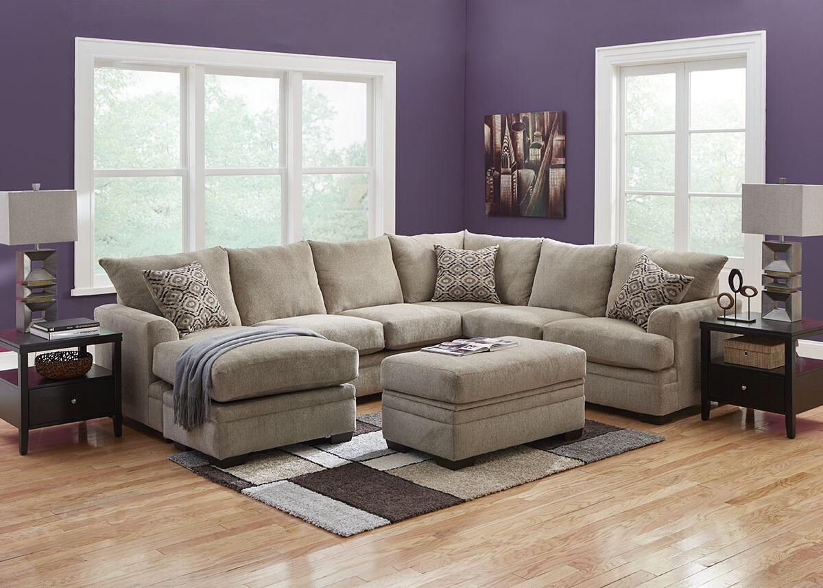 Wondrous Platinum Grey Sectional The Room Place Living Room Theyellowbook Wood Chair Design Ideas Theyellowbookinfo