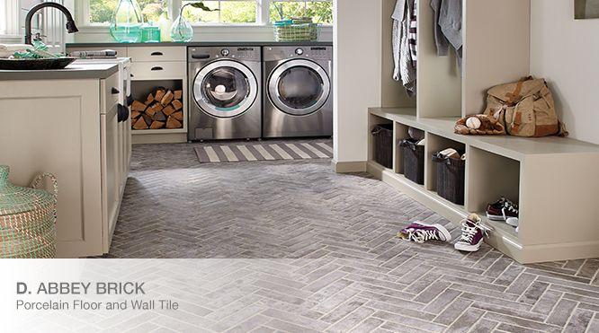 Abbey Brick Floor Tile Home Depot Brick Look Tile Brick Floor Kitchen Mudroom Laundry Room