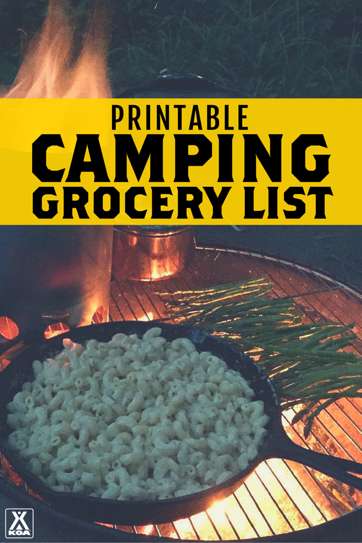 It is a graphic of Nerdy Camping Food List Printable