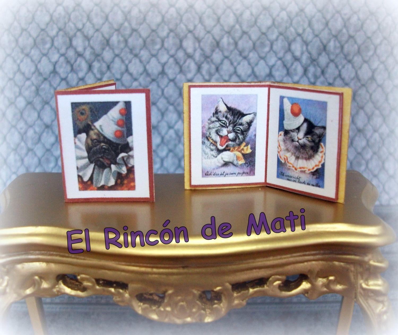 Caras, libro de imagenes, escala 1/12 miniatura para casas de muñecas. de ElRincondeMati en Etsy